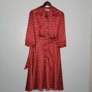 Chadwick's red and white shirt dress size M